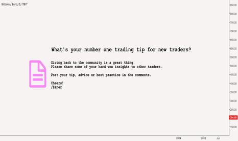 BTCEUR: What's your number one trading tip for new traders?