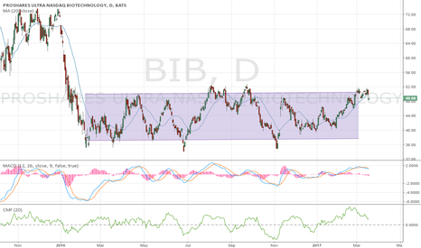 BIB: $BIB $48.88 Range Cap on Daily Chart, Resistance $52, Bearish