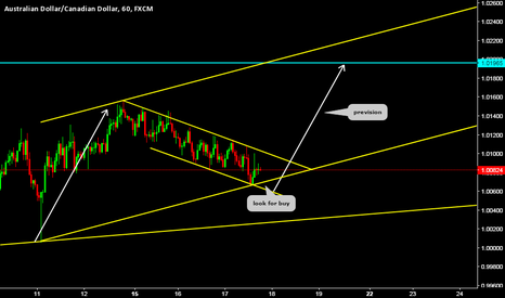 AUDCAD: Trend continuation pattern (AUDCAD)