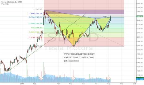 TSLA: Gartley pattern in $TSLA