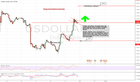 USDOLLAR: Perfect illustration of a Flag formation
