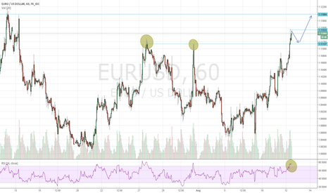 EURUSD: An EUR/USD idea in 1H chart