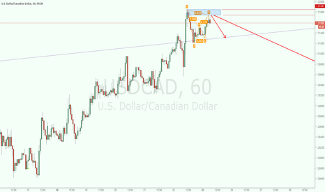 USDCAD: USDCAD Short Bat Pattern
