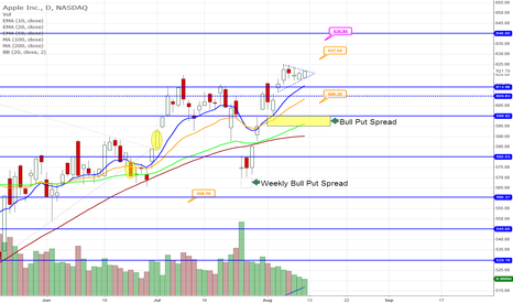 AAPL: Potential Triangle Forming on AAPL