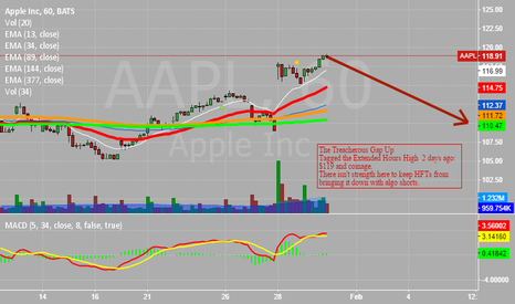 AAPL: AAPL STRUGGLES AFTER A GAP UP