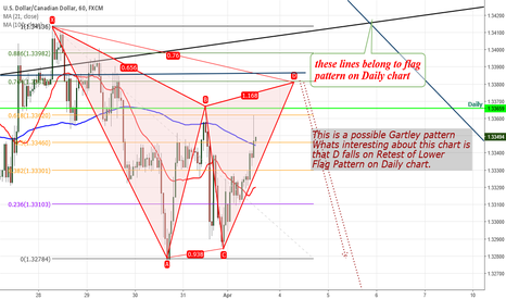 USDCAD: USDCAD Flag on Daily and gartly on H1
