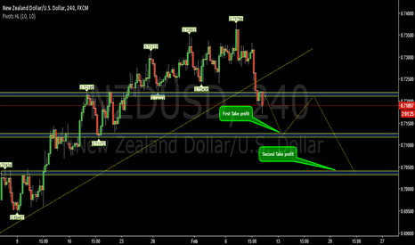 NZDUSD: Break of bullish trend and support key level-NZDUSD