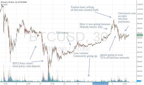 BTCUSD: Bitcoins starts 2014