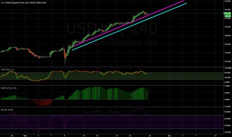 USDJPY: Multiple trendline touches, should reverse soon