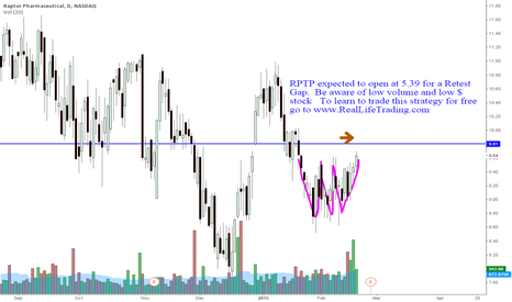 RPTP: RPTP Day Trade Retest Gap (Brad Reed Feb20,2015)