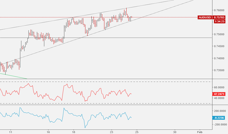 AUDUSD: AUDUSD: Rising Wedge