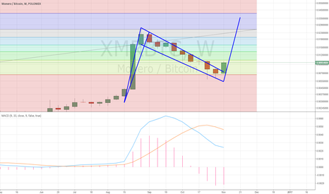 XMRBTC: XMR possible weekly bull flag