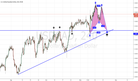 USDCAD: USDCAD bat pattern plus strong support