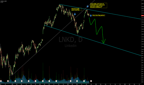 LNKD: LNKD looking bearish long-term
