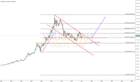 XAUUSD: gold flag long term