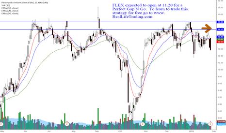 FLEX: FLEX Day Trade Perfect Gap N Go (Brad Reed Jan29,2015)