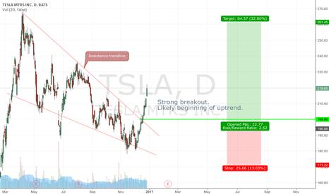 TSLA: TSLA breakout