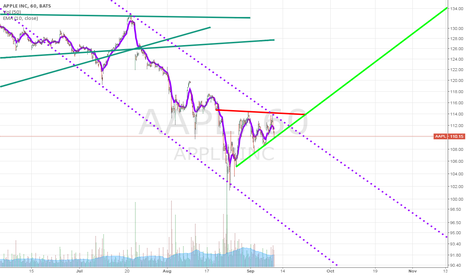 AAPL: Will AAPL stay in this purple channel, or break out?