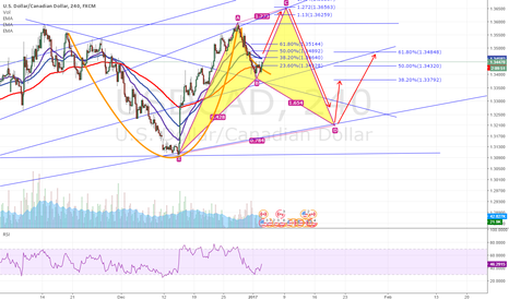 USDCAD: USDCAD - CYPHER PATTERN in Perception & Bullish teacup + RSI OB
