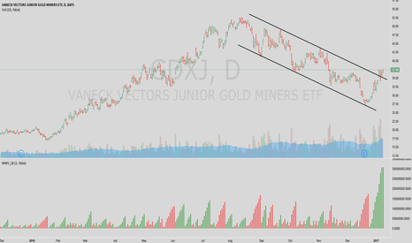 GDXJ: Gold miners on 10 Jan 2017