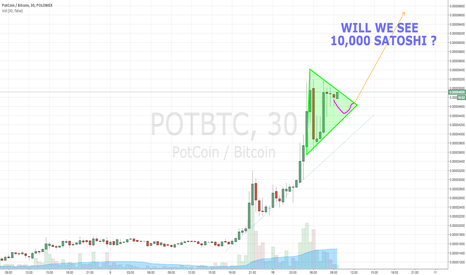 POTBTC: POTCOIN BULL FLAG 30MIN CHART - MORE GAINS TO COME - HOLD ON