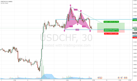 USDCHF: USDCHF M30 Bullish Gartley