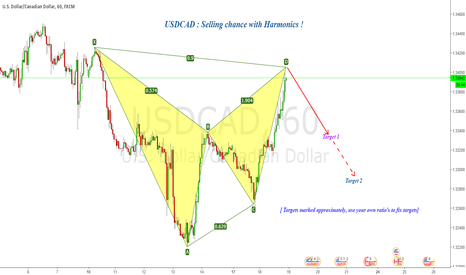 USDCAD: USDCAD : Selling chance with Harmonics !