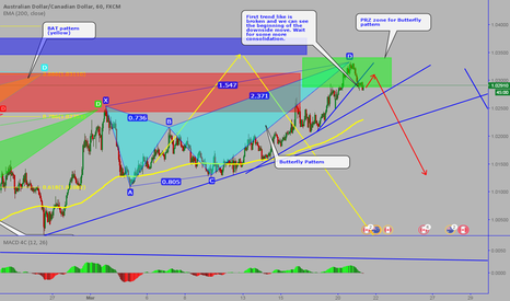 AUDCAD: AUDCAD: Completed Butterfly pattern-the last harmonic pattern?
