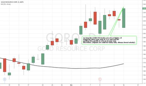 GORO: Simple Trading Techniques – Bullish Strategy