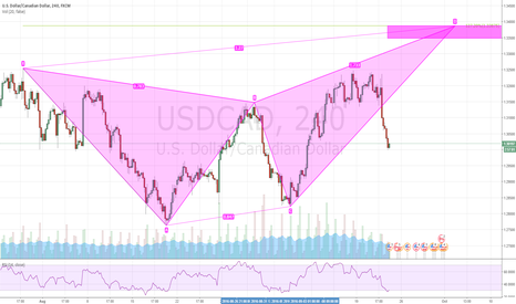 USDCAD: USDCAD H4 SHORT - BUTTERFLY