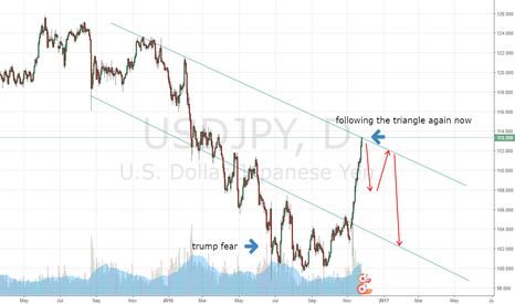 USDJPY: what you think guys, correction started ?