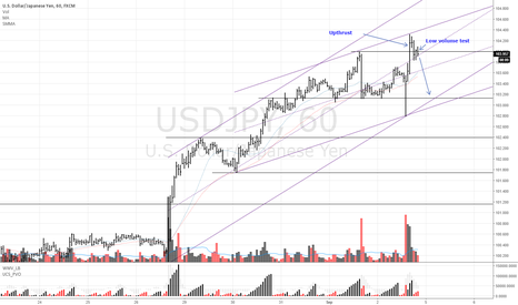 USDJPY: USDJPY Sell upthrust and low volume test