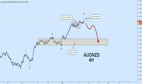 AUDNZD: AUDNZD Wave Count:  Poor Employment May Yield Big Correction