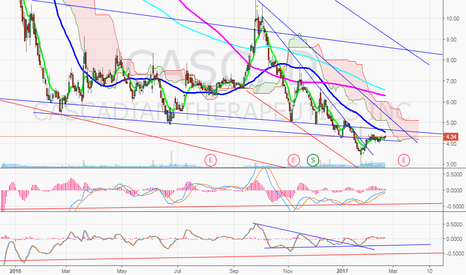 CASC: $CASC Post split, watching 50MA break