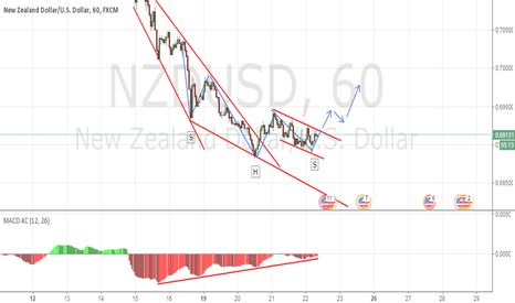 NZDUSD: NZDUSD - Trend line Breakout - Possible HSH Pattern.
