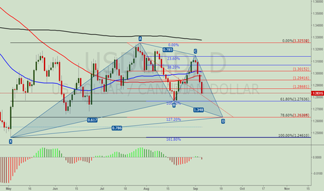 USDCAD: USDCAD. Possible Gartley pattern
