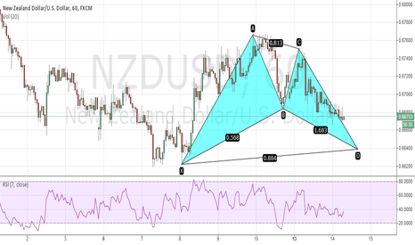 NZDUSD: Bullish Bat