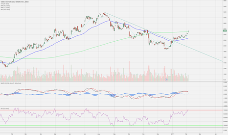GDX: Nice downtrend reversal breaking over 200 DMA