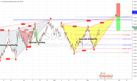 USDCAD: Bearish butterfly Formation