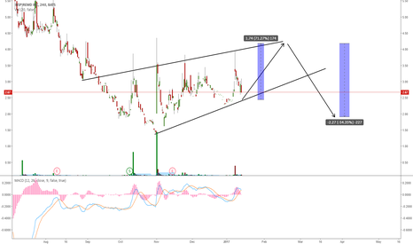 NSPR: NSPR TRADING IN A RISING WEDGE