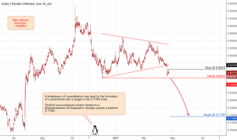 EURGBP: EURGBP: Breakdown of consolidation.