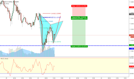 EURUSD: EUR/USD 30min Bearish Gartley pattern