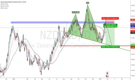 NZDCAD: NZD CAD - H&S SHORT