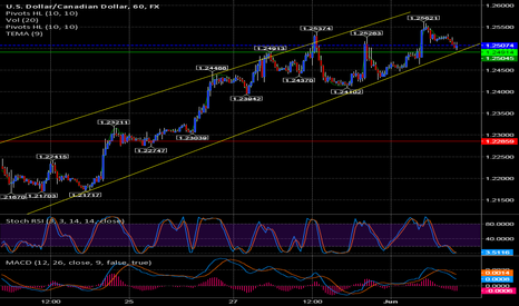 USDCAD: bottom of the channel and on support