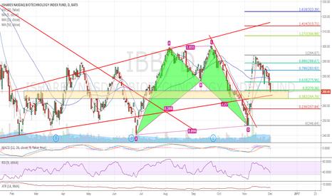 IBB: IBB daily chart potential reversal