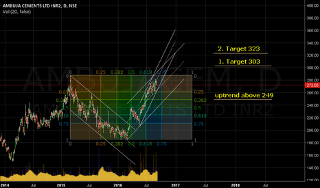 AMBUJACEM: Sustainable trading above 249 leads to 303/323.