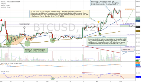 BTCUSD: Update: Still thinking 250-260 Short-Term then Higher