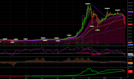 BTCUSD: Bitcoin situation right after Gox news of BTC withdrawal problem