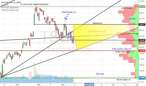 TSLA: Tesla trading range until earnings?