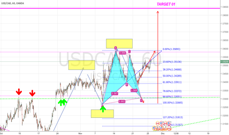 USDCAD: just a test USD/CAD